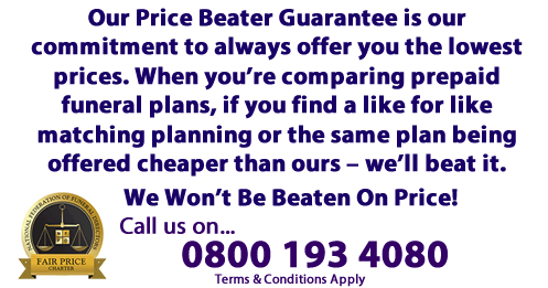 Best Price Funeral Plan Quotes - Our Price Promise - We'll beat any offer for the same funeral plan that you cheaper elsewhere